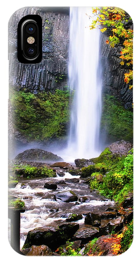 Autumn Color IPhone X Case featuring the photograph Elowah Falls 2 by Albert Seger