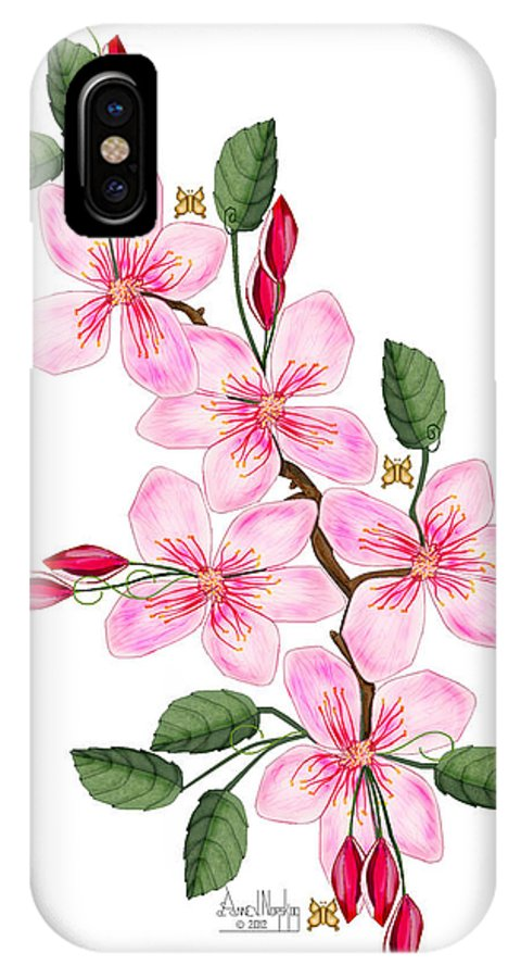 Anne Norskog IPhone X Case featuring the painting Elusive by Anne Norskog