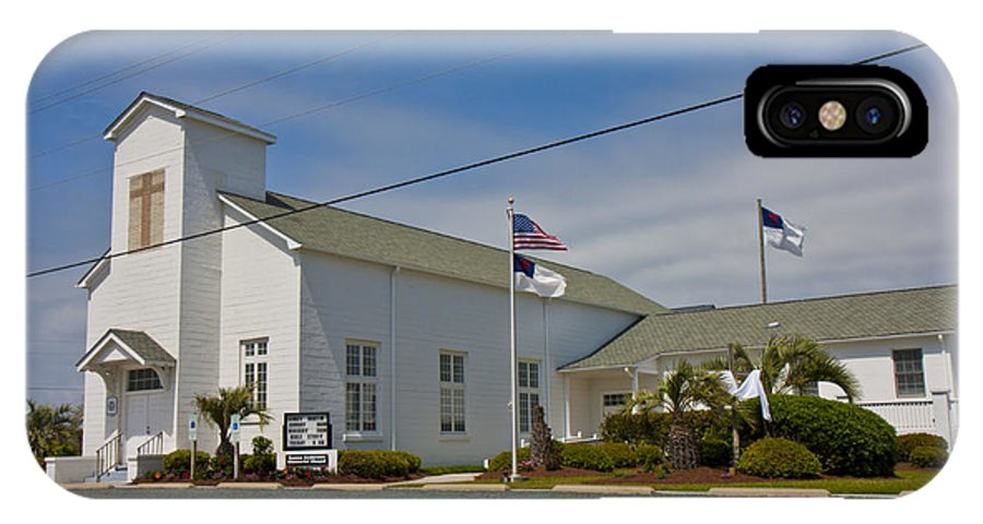 Topsail IPhone X Case featuring the photograph Emma Anderson Memorial Chapel by Betsy Knapp