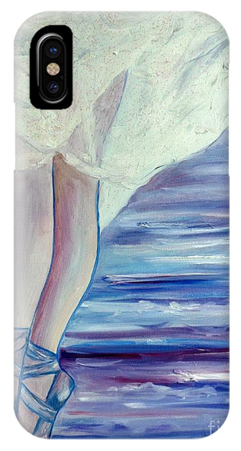 Ballet IPhone X Case featuring the painting En Pointe by Julie Brugh Riffey