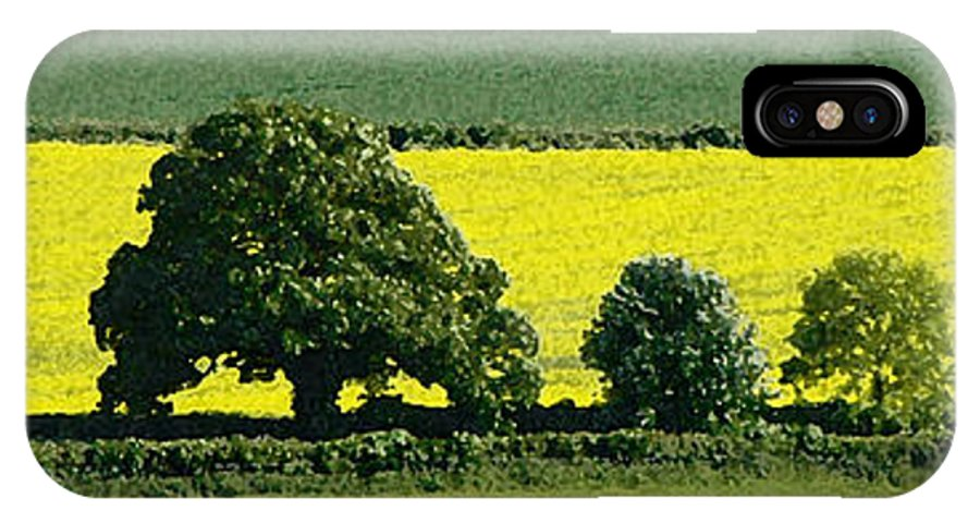 England IPhone X Case featuring the photograph English Field Of Yellow 2 by Mike Nellums