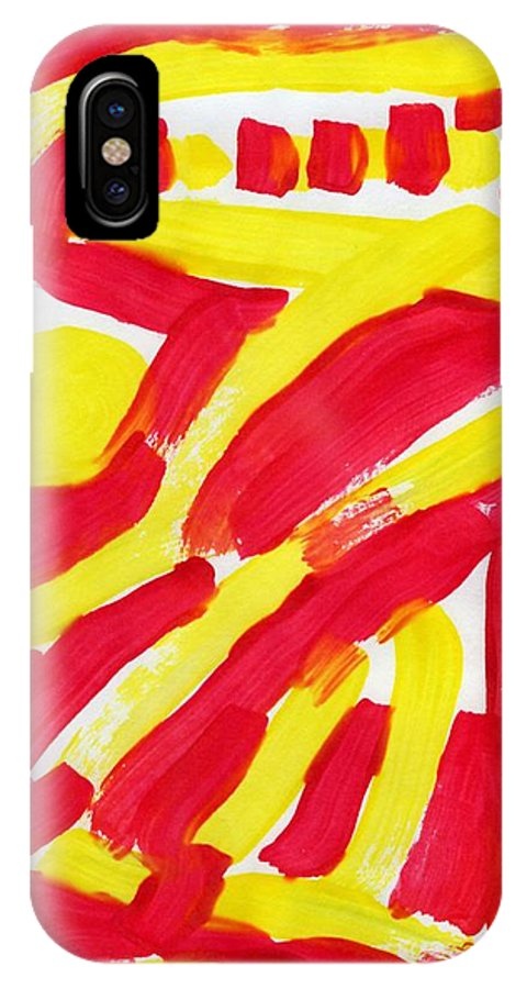 Engulfed Rage IPhone X Case featuring the painting Engulfed Rage by Taylor Webb