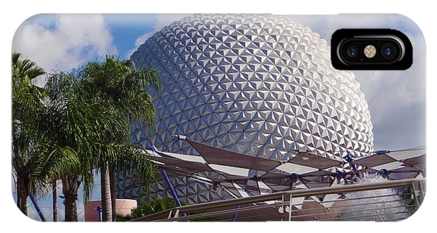 Epcot IPhone X Case featuring the photograph Epcot Dome by Richard P Davis