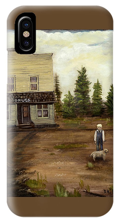 Trees IPhone X Case featuring the painting Errand Day by Darla Boljat