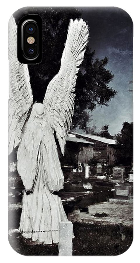 Angel IPhone X Case featuring the photograph Eternal Angel by Scott Crump