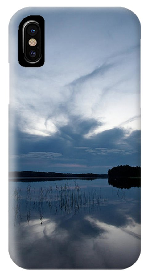 Jouko Lehto IPhone X Case featuring the photograph Evening Clouds Over Haukkajarvi by Jouko Lehto