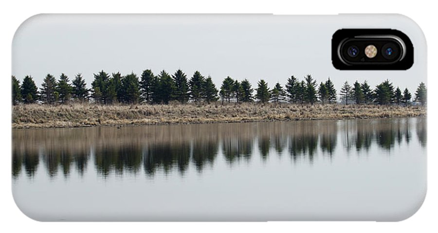 Trees IPhone X Case featuring the photograph Evergreen Trees by Lori Tordsen