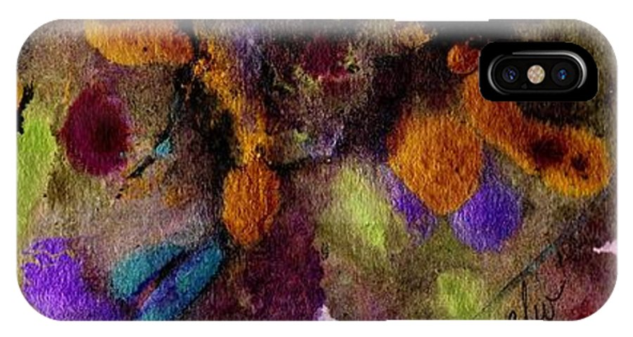 Spiritual IPhone X Case featuring the painting Every Which Way by Angela L Walker