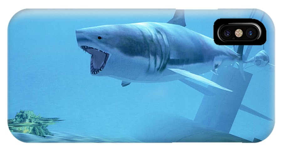 Reality Centre IPhone X Case featuring the photograph Example Of Reality Centre Graphics, Shark by David Parker
