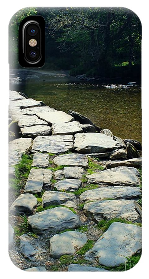 Foot Bridge IPhone X Case featuring the photograph Exmoor National Park Crossing Bridge by Rene Triay Photography