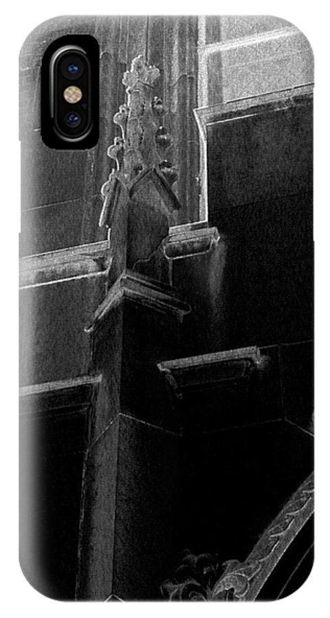 Church IPhone X Case featuring the photograph Exterior Of A Religious Edifice by Louis Nugent
