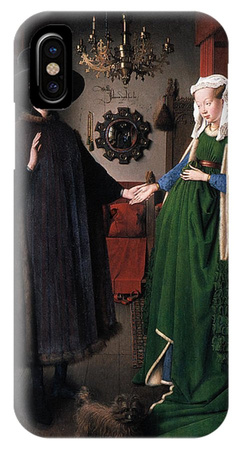 1434 IPhone X / XS Case featuring the photograph Eyck: Arnolfini Marriage by Granger