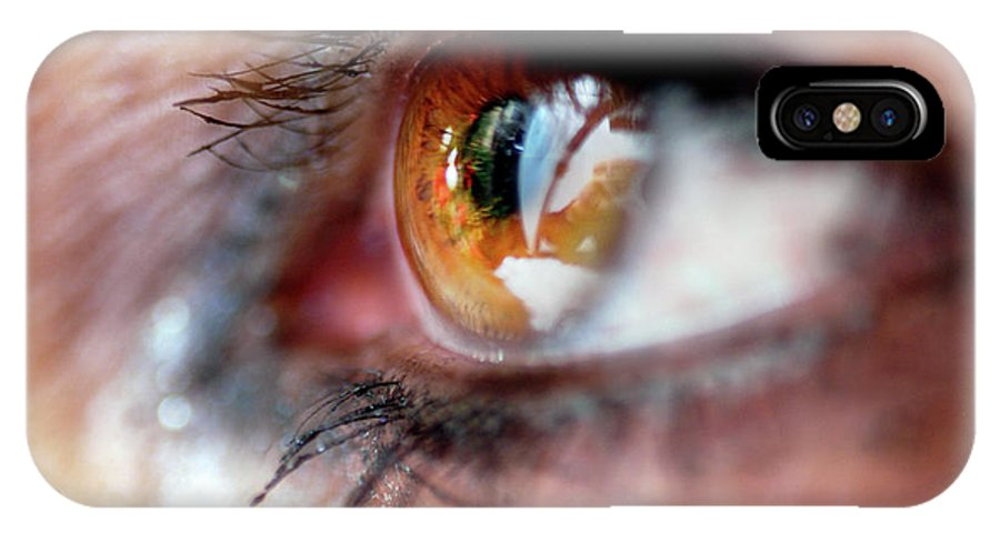 Clay IPhone X Case featuring the photograph Eye Don't Know by Clayton Bruster