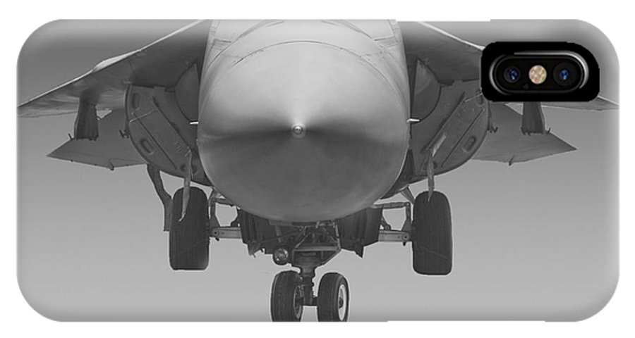 General Dynamics IPhone X Case featuring the photograph F-111e Aardvark by Tim Mulina