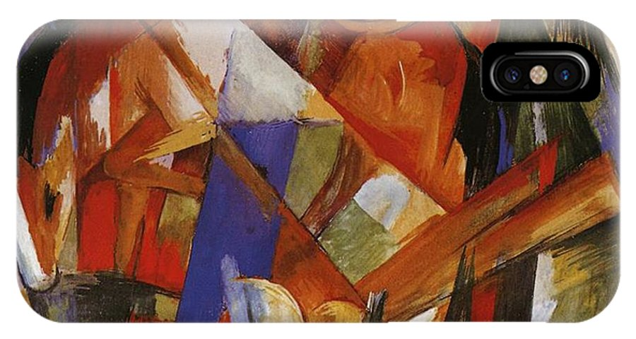 Fabulous Beast Ii IPhone X Case featuring the painting Fabulous Beast II by Franz Marc