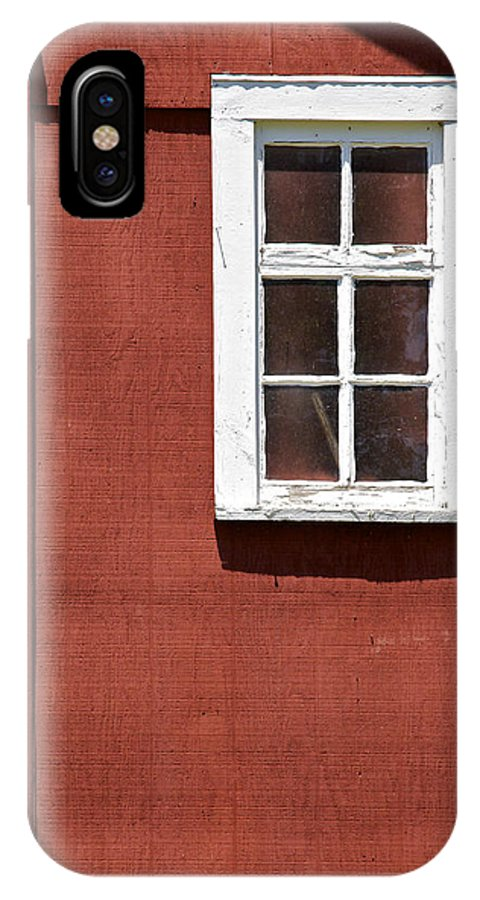 Americana IPhone X Case featuring the photograph Faded Red Wood Farm Barn by David Letts