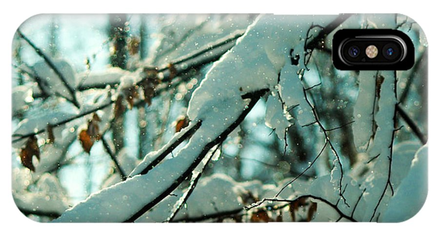 Faery IPhone X Case featuring the photograph Faery Forest by Rebecca Sherman