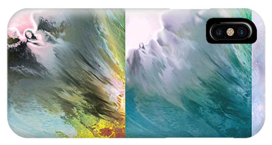 Fear IPhone X Case featuring the painting Faith Series by Natalie LaRocque