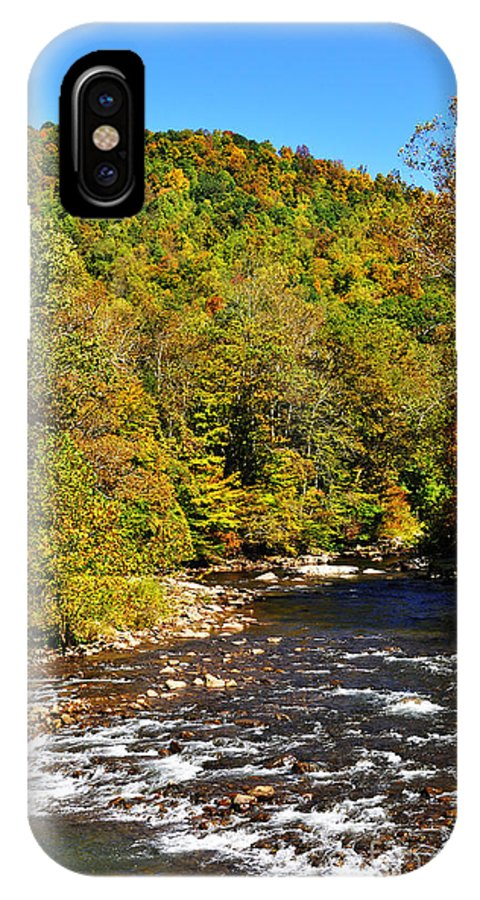 Elk River IPhone X / XS Case featuring the photograph Fall Along Elk River by Thomas R Fletcher