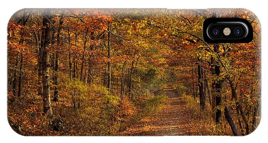 Center Point Trail IPhone X Case featuring the photograph Fall At Center Point Trailhead by Michael Dougherty