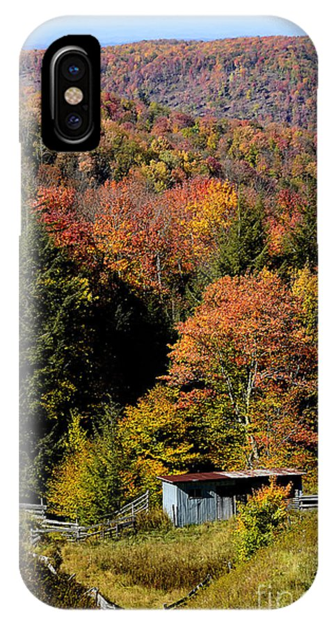 Fall Color IPhone X / XS Case featuring the photograph Fall Color West Virginia by Thomas R Fletcher