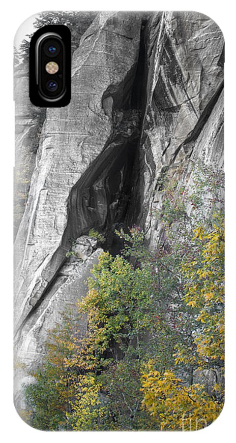 Fall Colors Chimney Rock State Park IPhone X Case featuring the photograph Fall Colors Chimney Rock State Park by Dustin K Ryan