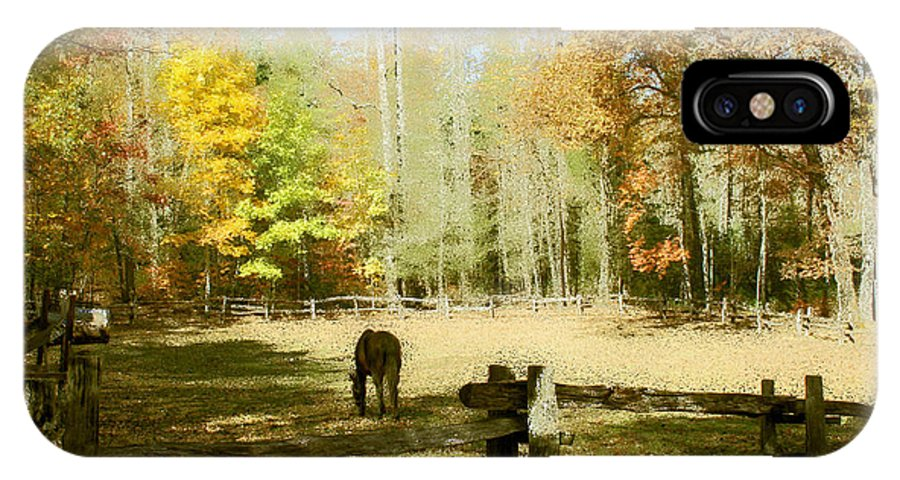 Fall Corral IPhone X Case featuring the photograph Fall Corral by Seth Weaver