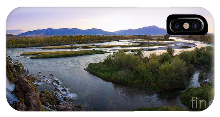 Eastern Idaho IPhone X / XS Case featuring the photograph Fall Creek Panorama by Idaho Scenic Images Linda Lantzy
