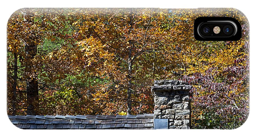 Scenery IPhone X Case featuring the photograph Fall House In Carolina by Kenneth Albin