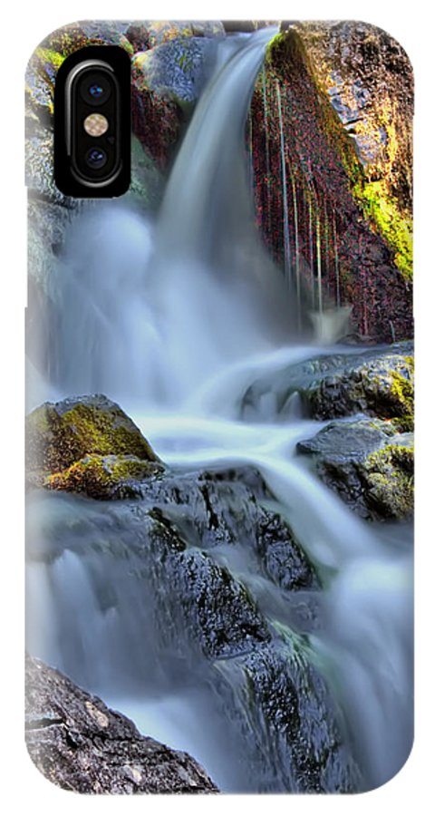 Waterfalls IPhone X Case featuring the photograph Fall by Sarah Wiggins