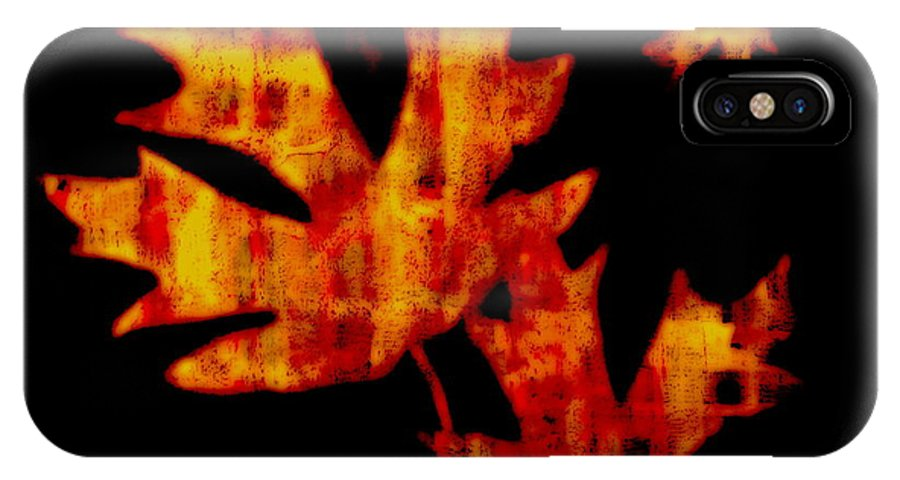 Leaf IPhone X Case featuring the painting Fallen Leaves by Kathy Sampson