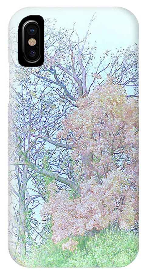 Falling Peace IPhone X Case featuring the drawing Falling Peace by Debra   Vatalaro
