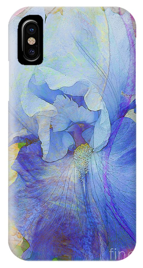 Iris IPhone X Case featuring the photograph Fanciful Flowers - Iris by Regina Geoghan
