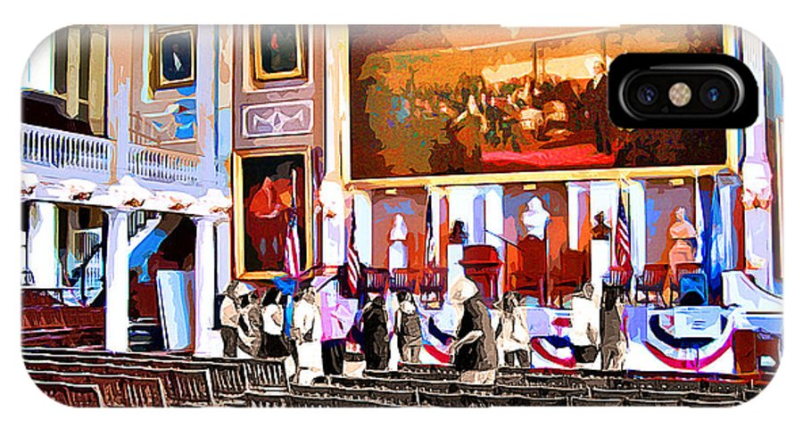 Faneuil Hall IPhone X Case featuring the digital art Faneuil Hall by Stephen Younts