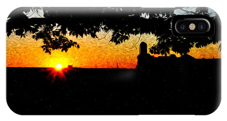 Farm Sunrise IPhone X Case featuring the photograph Farm Sunrise by Bill Cannon