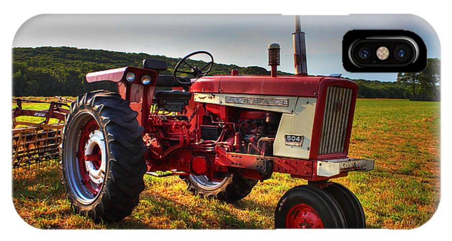 Andrew Pacheco IPhone X Case featuring the photograph Farmall Tractor In The Sunlight by Andrew Pacheco