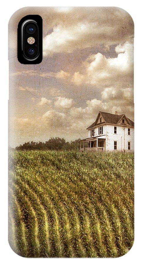 Farm IPhone X Case featuring the photograph Farmhouse And Cornfield by Jill Battaglia