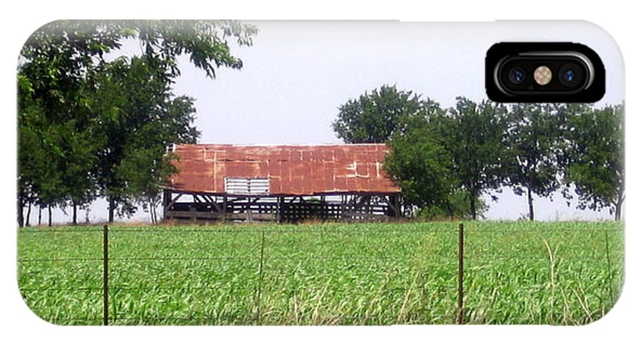 Country IPhone X Case featuring the photograph Feeding Barn by Amy Hosp