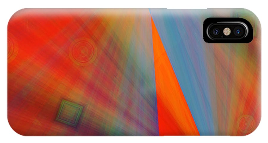 Emotions IPhone X Case featuring the digital art Feeling It by Marie Jamieson