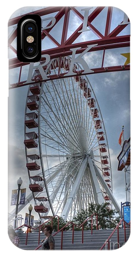 Ferris Wheel IPhone X Case featuring the photograph Ferris Wheel At The Pier by David Bearden