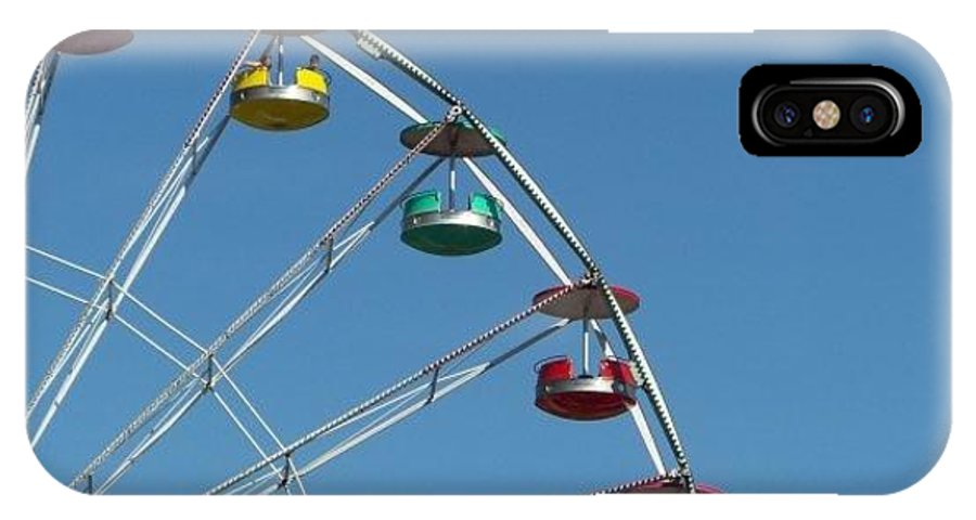 Ferris Wheel IPhone X Case featuring the photograph Ferris Wheel by Michele Nelson