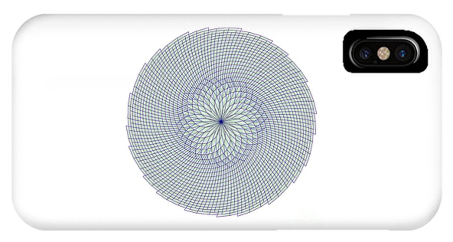 Fibonacci IPhone X Case featuring the digital art Fibonacci Web by Marcus West
