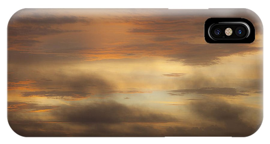 Sunrise IPhone X Case featuring the photograph Fiery Atlantic Sunrise 1 by Teresa Mucha