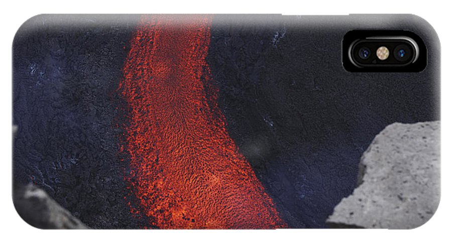 No People IPhone X Case featuring the photograph Fimmvörduhals Lavaflow by Martin Rietze
