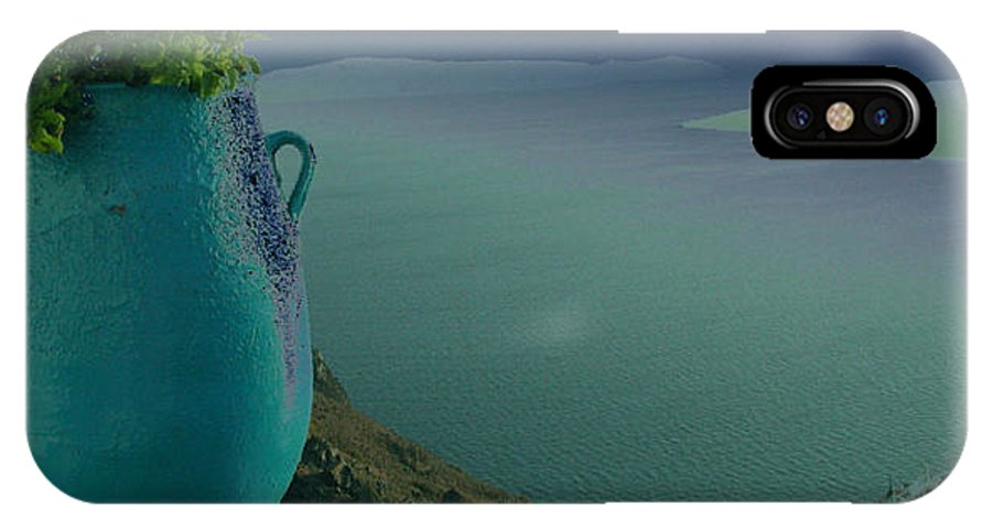 Colette IPhone X / XS Case featuring the photograph Fira View Santorini Greece by Colette V Hera Guggenheim