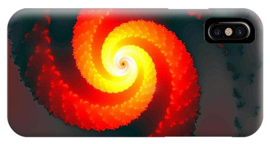 Fractal IPhone X Case featuring the digital art Fire And Smoke by Ester Rogers
