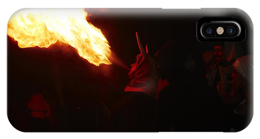 Fuego IPhone X Case featuring the photograph Fire Blower by Agusti Pardo Rossello