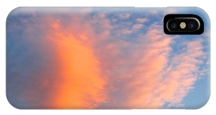Blue Sky IPhone X Case featuring the photograph Fire Cloud And Aircraft by Phyllis Kaltenbach