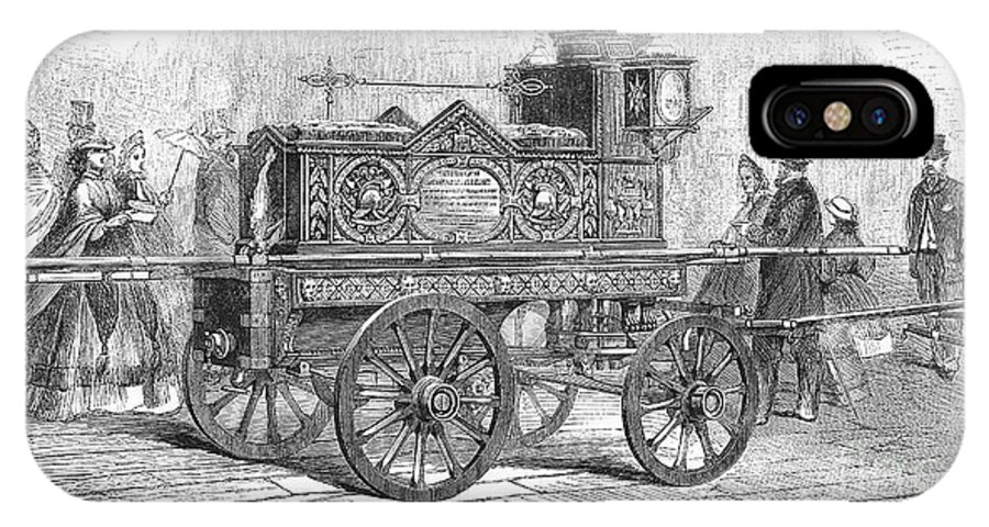 1862 IPhone X Case featuring the photograph Fire Engine, 1862 by Granger