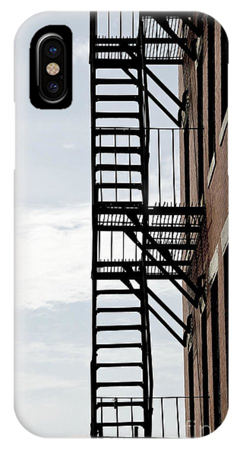 House IPhone X Case featuring the photograph Fire Escape In Boston by Elena Elisseeva